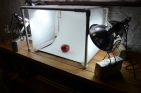Finished light box with backdrop.