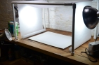 Light box made of PVC and parchment paper