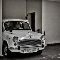 This car was at the Gandhi memorial.