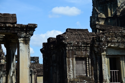Inside the city walls of Angkor Wat.