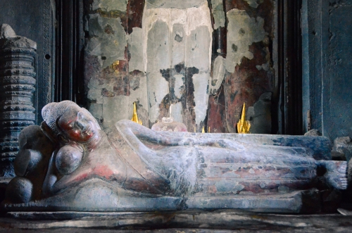 I'm not sure who this is. She rests in an inner sanctum of Angkor Wat.
