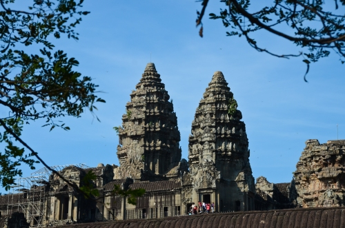 Angkor Wat is an expansive temple city, dedicated to the Hindu god, Vishnu.