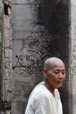A Buddhist Nun lit some incense in the temple as we were leaving that evening.
