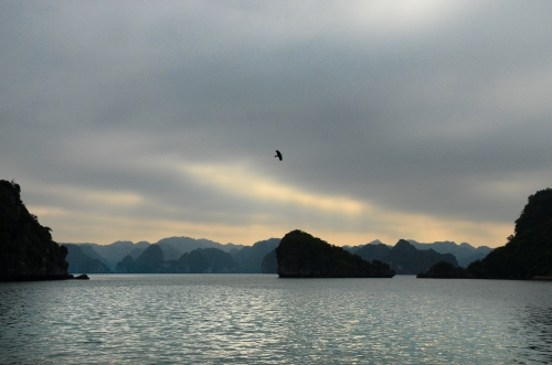 Sunrise on Hạ Long Bay